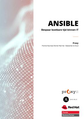Voorpagina Ansible - Bespaar kostbare tijd binnen IT-1